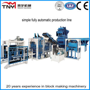 Simple Fully Automatic Concrete Block Machine Production Line pictures & photos