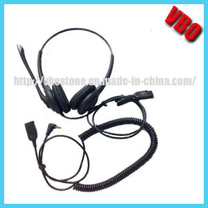 2.5mm Jack Call Center Headset Headphone with Mic pictures & photos