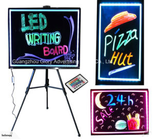 Rewritable LED Light Board Sign with Marker Pen pictures & photos