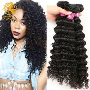 10A Brazilian Deep Wave Virgin Hair100% Brazilian Human Hair Weave 4bundle Cheap Brazilian Curly Virgin Hair Brazilian Deep Wave pictures & photos