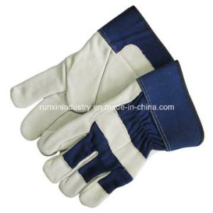 Cow Split Leather Working Gloves 1301 pictures & photos