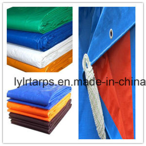 Waterproof Black PE Tarpaulin with Grommets, Finished PE Tarp Sheet, Poly Tarp Cover pictures & photos