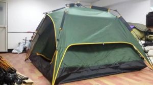 Portable 190t Polyester+Mesh Yarn Double Layer Quick Set Automatic Outdoor Tent pictures & photos