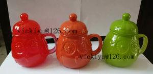 300ml Orange Owl Glass Jar Dor Water