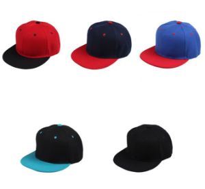 Cotton Promotion 3D Embroidered Logo Flat Hats pictures & photos