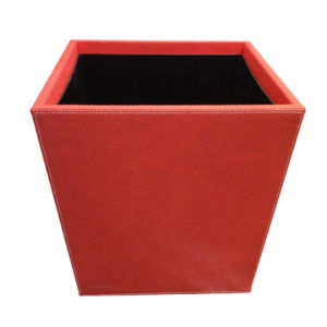 PU Leather Flower Pot (CZ-390-400/RED)