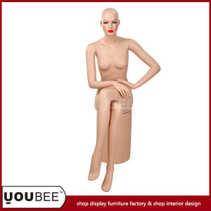 High Quality Realistic Sitting Female Mannequin/Manikin with Round Base pictures & photos