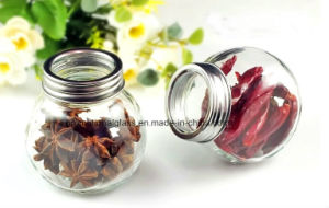 200ml Drum Shaped Glass Jar, Spice Jar