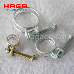 Stainless Steel French Double Wires Rope Spring Hose Clip pictures & photos