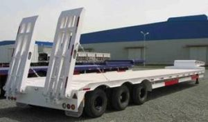 Sinotruk Tri-Axle Semi Trailer Lowbed pictures & photos