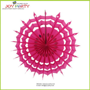 Hot Pink Snowflake Paper Fans pictures & photos