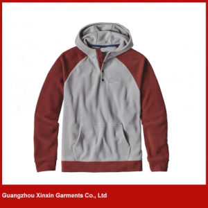 Guangzhou Factory Wholesale Blank Cheap Polyester Fleece Pullover Jacket Hoody (T87) pictures & photos