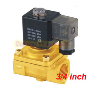 High Quality G3/4′′ Two Position Two Way Solenoid Valves PU220-06A Solenoid Valve Brass pictures & photos