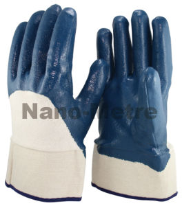 Nmsafety Blue Nitrile Heavy Duty Oil Proof Work Glove pictures & photos