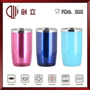 1.4L Colorful Double Wall Stainless Steel and Plastic Ice Bucket