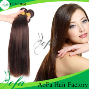Light Brown Brazilian Human Remy Hair Human Hair Weft pictures & photos