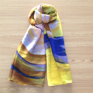 Handpaint-Like Silk Wool Scarf in Big Size pictures & photos