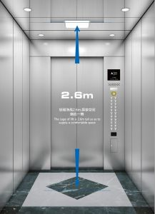 Aksen Hairline and Mirror Passenger Elevator