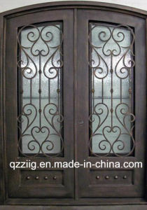 Wrought Iron Entrance Double Door