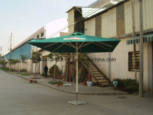 Outdoor Sun Parasol, Square Aluminum Frame Patio Umbrella