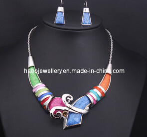 Square Colorful Stone Jewelry Set (XJW13211) pictures & photos