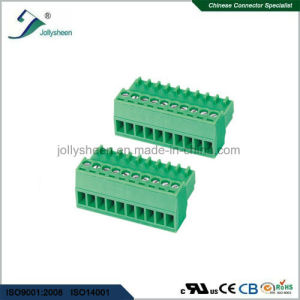 Pluggable Terminal Blocks 10pin pH2.54mm with Green Housing pictures & photos