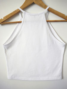 Women Fashion Apparel White Cotton Knitted Vest Custom Tank Tops pictures & photos