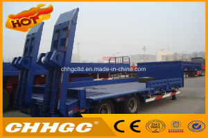 Heavy Duty Low Bed Semi Trailer for Transporting Construction Machinery for Sale pictures & photos
