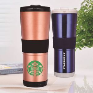 Customize 16oz Travel Cafe Mugs with Silicon Ring pictures & photos