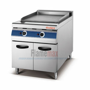 Stainless Steel Hot Sale Gas Griddle with Cabinet for BBQ (HGG-70) pictures & photos