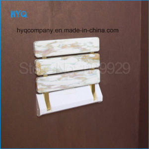 Best Quality Imitation Stone ABS Shower Stool Foldable Chair Corridor Wall Chair Bathroom Seat pictures & photos