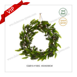 18′′ Commercial Christmas Wreath Christmas Outdoor Decoration for Wall Decoration pictures & photos