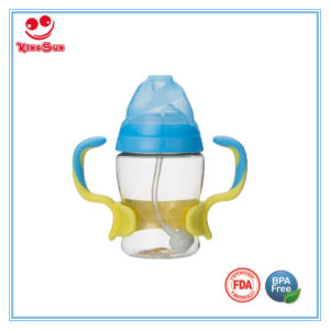 Heat-Resistant PPSU Baby Feeding Bottle with Double Color Handle pictures & photos