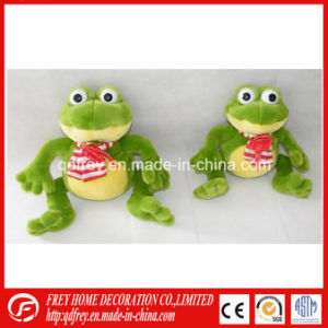 Soft Plush Frog Toy for Holiday Gift Promotion