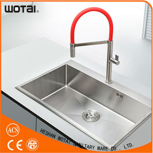 Zinc Single Handle Brass Main Body Red Kitchen Faucet pictures & photos