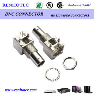 Ra BNC Female PCB Connector RF Connector Thru Hole Solder Attachment pictures & photos