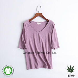 Women′s Hemp Organic Cotton T-Shirts (WSTV-01/02) pictures & photos