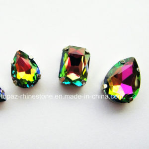 The Latest Rhinestone Claw Setting Rainbow Sew on Jewelry Rhinestone pictures & photos