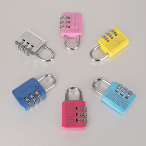 Colorful Mini 4 Digit Combination Padlock Painted Finish pictures & photos