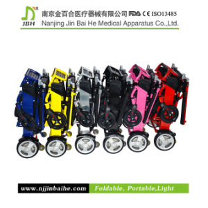 Lightweight Aluminum Folding Power Wheelchair with Lithium Battery pictures & photos