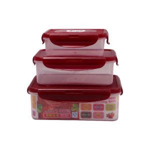 High Quality 3PCS Lock Container Plastic Crisper pictures & photos