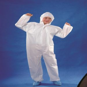 Disposable 115*135cm 48GSM PP Coveralls with Hood