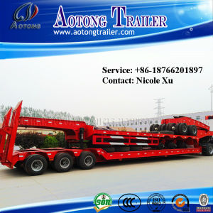 3 Axles 50-80 Tons Lowbed Semi Truck Trailer (LAT9405TDP) pictures & photos