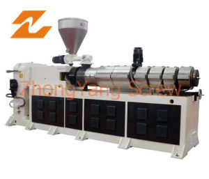 Conical Twin Screw Extruder Bimetallic Double Screw Extruder pictures & photos