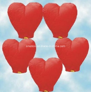 Heart Shaped Candle Balloon Wedding Wish Chinese Flying Paper Lanterns pictures & photos