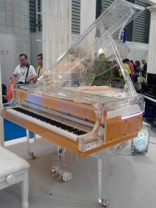 Crystal Piano 168 with LED Light