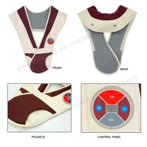 Drum Type Neck and Shoulder Tapping Massager Belt pictures & photos