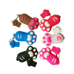 Feet Shape PVC USB Flash