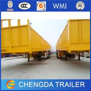 Factory 3 Axles Side Wall Cargo Trailer for Sale pictures & photos
