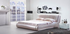 Leather Bed / Modern Bed (WLNK-V90640#)